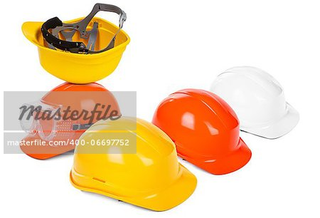 group of hard hats, small natural shadow under objects Stock Photo - Budget Royalty-Free, Image code: 400-06697752