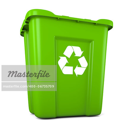 3D model of empty green plastic recycle bin Stock Photo - Budget Royalty-Free, Image code: 400-06735709