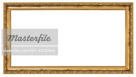Extremely long golden frame isolated on white background Stock Photo - Budget Royalty-Free, Image code: 400-06737544