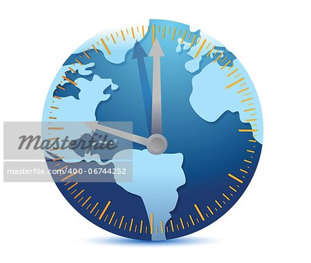 Global time concept illustration design over a white background Stock Photo - Budget Royalty-Free, Image code: 400-06744252