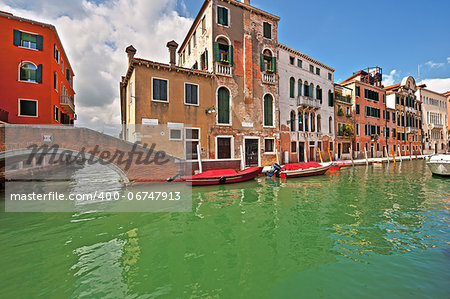 The Narrow Canal- the Street in Venice Stock Photo - Budget Royalty-Free, Image code: 400-06747913