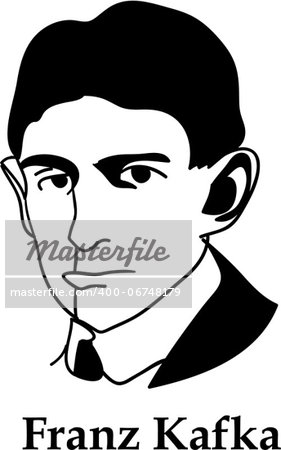 Franz Kafka - black and white (vector) Stock Photo - Budget Royalty-Free, Image code: 400-06748179