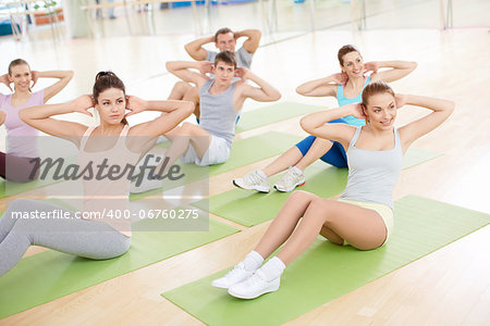 Group of people engage in fitness club Stock Photo - Budget Royalty-Free, Image code: 400-06760275