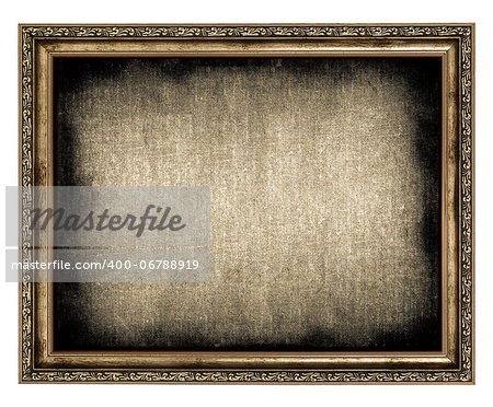 frame with empty canvas isolated on white Stock Photo - Budget Royalty-Free, Image code: 400-06788919