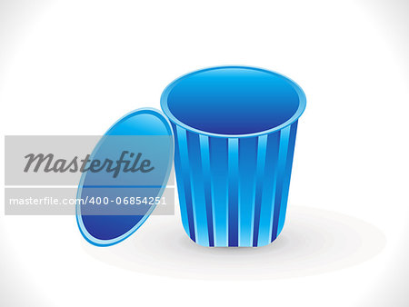 abstract blue trash icon vector illustration Stock Photo - Budget Royalty-Free, Image code: 400-06854251