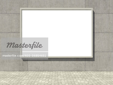 Blank advertising billboard on concrete wall Stock Photo - Budget Royalty-Free, Image code: 400-06854651
