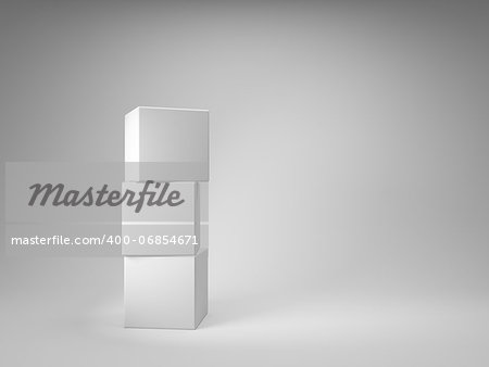 Design of abstract cubes Stock Photo - Budget Royalty-Free, Image code: 400-06854671