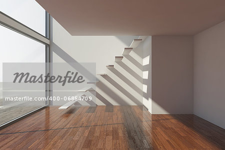 Empty modern hall with big window Stock Photo - Budget Royalty-Free, Image code: 400-06854709