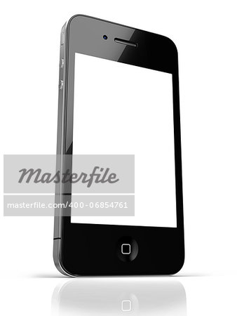 Black smart phone with touch screen blank Stock Photo - Budget Royalty-Free, Image code: 400-06854761