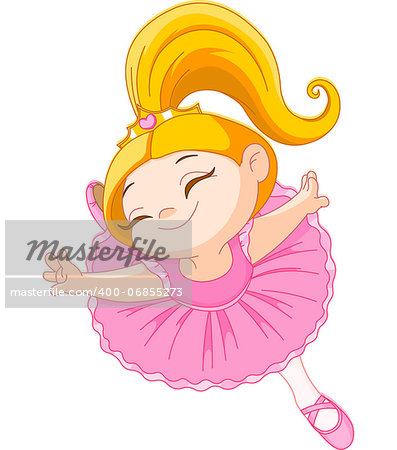 Happy little ballerina in ballet jump Stock Photo - Budget Royalty-Free, Image code: 400-06855273