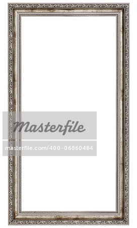 very long wooden frame isolated on white background Stock Photo - Budget Royalty-Free, Image code: 400-06860484