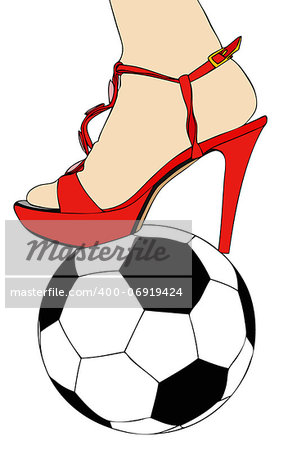 Women and football Stock Photo - Budget Royalty-Free, Image code: 400-06919424