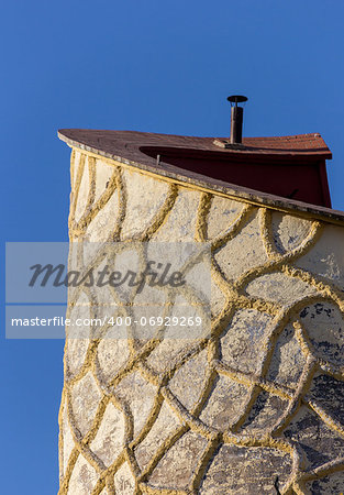 Artistic tower in Puente de Genave, Spain Stock Photo - Budget Royalty-Free, Image code: 400-06929269