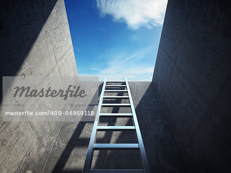 Ladder leading up to the light Stock Photo - Budget Royalty-Free, Image code: 400-06950118