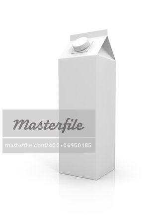 Blank milk package isolated on white background Stock Photo - Budget Royalty-Free, Image code: 400-06950185