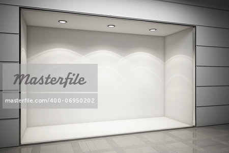 An empty storefront of shop Stock Photo - Budget Royalty-Free, Image code: 400-06950202