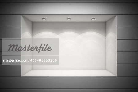 An empty storefront of shop Stock Photo - Budget Royalty-Free, Image code: 400-06950205