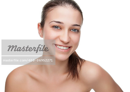 Young beauty with a big smile Stock Photo - Budget Royalty-Free, Image code: 400-06952271