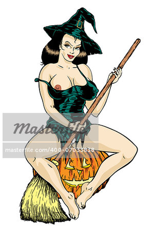 Super sexy witch. Stock Photo - Budget Royalty-Free, Image code: 400-07033838