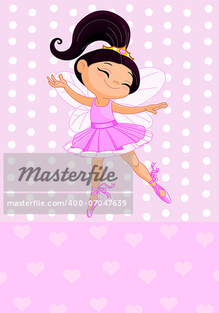 Happy little princess over pink background Stock Photo - Budget Royalty-Free, Image code: 400-07047639