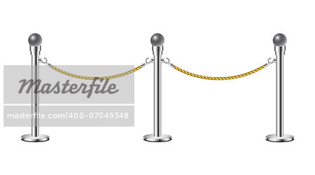 Stand rope barriers isolated on white background Stock Photo - Budget Royalty-Free, Image code: 400-07049348