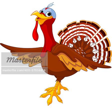 Illustration of a cartoon turkey Stock Photo - Budget Royalty-Free, Image code: 400-07056816