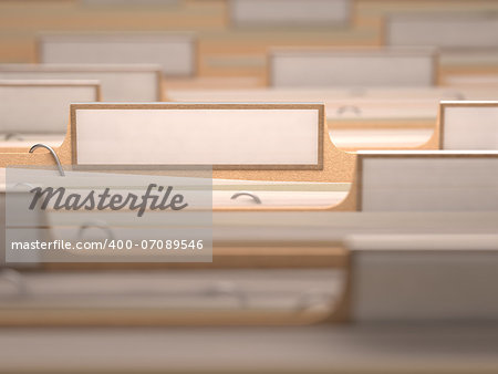 Files with white labels and focus on only one folder. Stock Photo - Budget Royalty-Free, Image code: 400-07089546