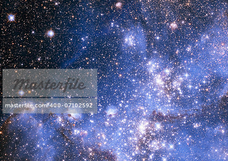 "Small part of an infinite star field of space in the Universe. ""Elements of this image furnished by NASA"". Stock Photo - Budget Royalty-Free, Image code: 400-07102592"