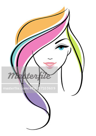 Vector illustration of Beautiful woman Stock Photo - Budget Royalty-Free, Image code: 400-07103609