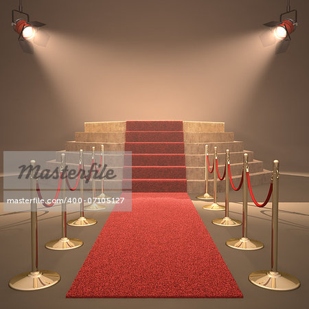 Lights illuminating the podium. Your text in light. Stock Photo - Budget Royalty-Free, Image code: 400-07105127