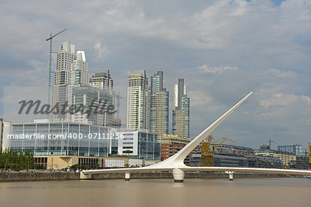 Puerto Madero bridge in Buenos Aires Stock Photo - Budget Royalty-Free, Image code: 400-07111236