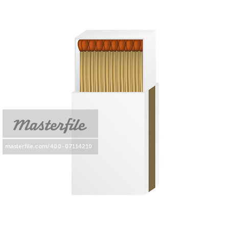 Open matchbox with a blank top on white background Stock Photo - Budget Royalty-Free, Image code: 400-07114210