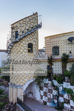 Artistic tower in Puente de Genave, Spain Stock Photo - Budget Royalty-Free, Image code: 400-07123644