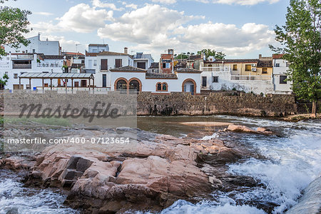 River view of Puente de Genave in Andalusia, Spain Stock Photo - Budget Royalty-Free, Image code: 400-07123654