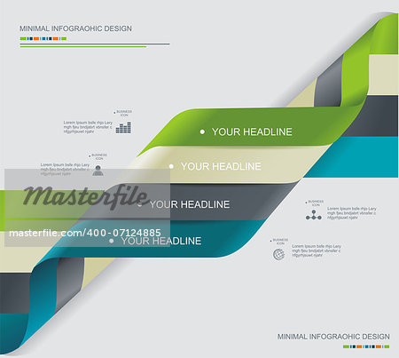Modern spiral infographics options banner. Can be used for diagram, number options, steps banners, workflow layout, web design. Stock Photo - Budget Royalty-Free, Image code: 400-07124885