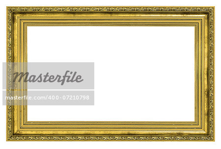 gilded frame with thick border isolated on white background Stock Photo - Budget Royalty-Free, Image code: 400-07210798