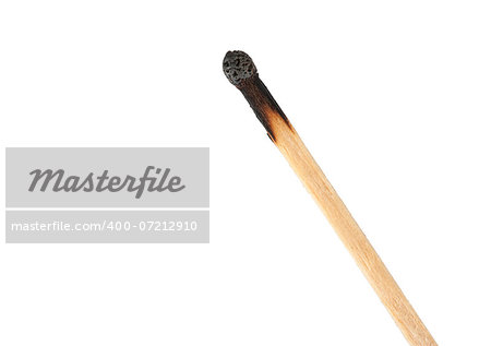 burnt match isolated on a white background Stock Photo - Budget Royalty-Free, Image code: 400-07212910