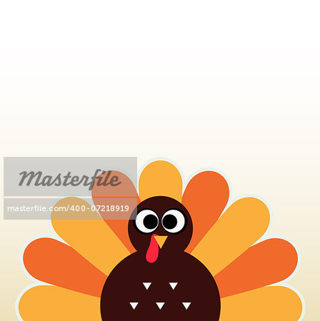 Happy Thanksgiving day card with copyspace. Vector Illustration Stock Photo - Budget Royalty-Free, Image code: 400-07218919