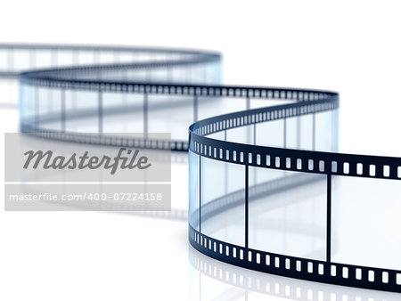 3d render of film strip on white background Stock Photo - Budget Royalty-Free, Image code: 400-07224158