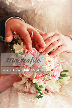 The groom keep the bride for hands Stock Photo - Budget Royalty-Free, Image code: 400-07224375