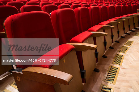 Red seats in a theater and opera Stock Photo - Budget Royalty-Free, Image code: 400-07244778
