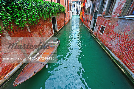 The Narrow Canal- the Street in Venice Stock Photo - Budget Royalty-Free, Image code: 400-07248420