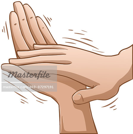 A vector illustration of clapping hands. Stock Photo - Budget Royalty-Free, Image code: 400-07297191