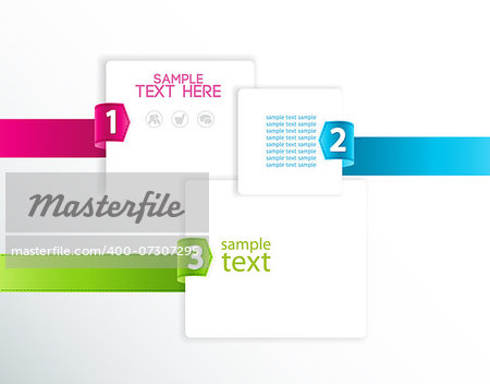 vector design template with numbered ribbons Stock Photo - Budget Royalty-Free, Image code: 400-07307295