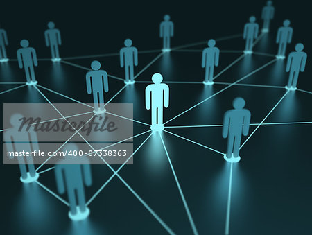 People interconnected with depth of field on the concept of team. Stock Photo - Budget Royalty-Free, Image code: 400-07338363