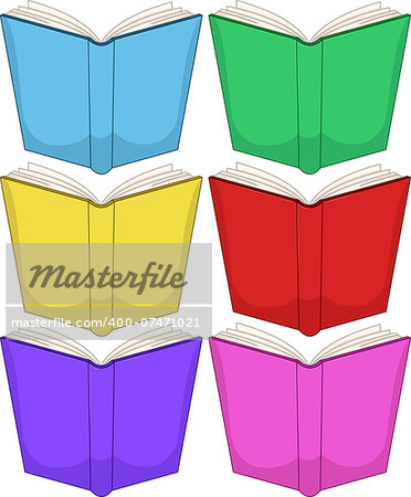 Vector illustration of colorful books pack. Stock Photo - Budget Royalty-Free, Image code: 400-07471021