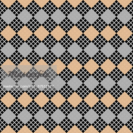 Design seamless diamond geometric pattern. Abstract checkered background. Vector art