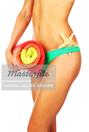 Beautiful female body isolated conceptual image of holiday,vacation & summer Stock Photo - Budget Royalty-Free, Image code: 400-07524885