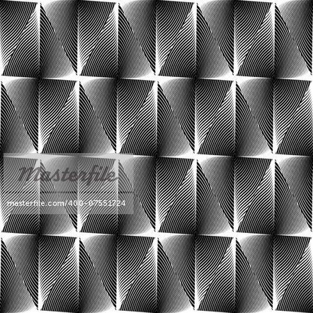 Design seamless diamond trellised pattern. Abstract geometric monochrome background. Speckled texture. Vector art. No gradient