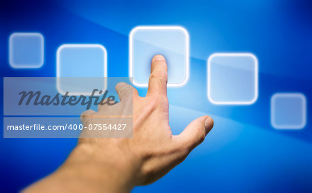 picture of pointing a display Stock Photo - Budget Royalty-Free, Image code: 400-07554427